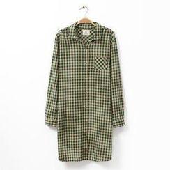 Rosadame - 長袖格子襯衫