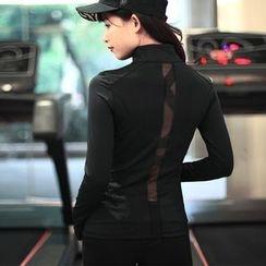 Quintina - Mesh Insert Sport Zip Jacket