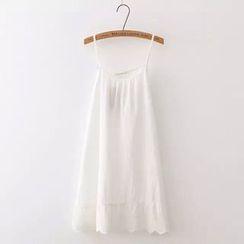 TOJI - 纯色拼接吊带连衣裙