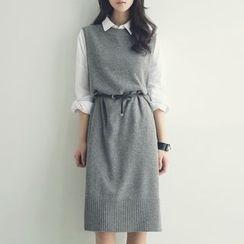 Tulander - Sleeveless Knitted Long Vest