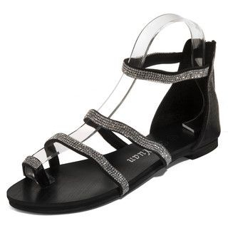 yeswalker - Rhinestone Toe Loop Sandals