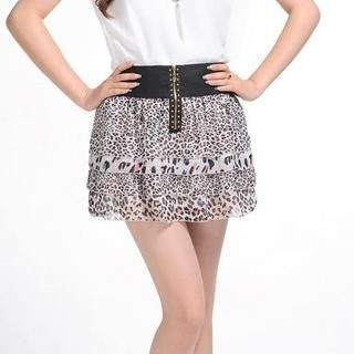 9mg - Leopard-Print Skirt
