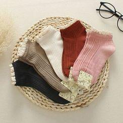 三木社 - 蕾絲邊短襪