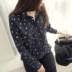 45SEVEN - Star-Patterned Chiffon Blouse