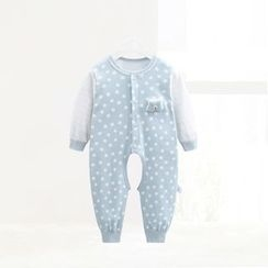 ciciibear - Kids Dotted Panel Open Crotch One-piece