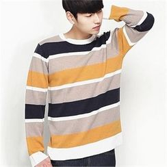 MITOSHOP - Color-Block Knit Top