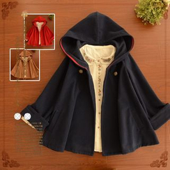 Angel Love - Cuff Sleeve Hooded Cape Jacket