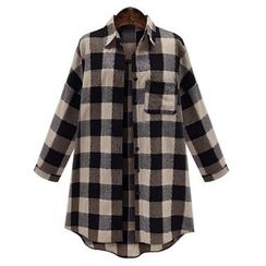 Fashion Street - Gingham Long Shirt