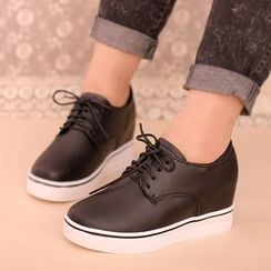 IYATO - Hidden-Heel Lace-Up Sneakers