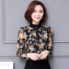 Rosehedge - Frill Collar Long Sleeve Lace Blouse
