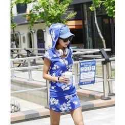 DANI LOVE - Set: Sleeveless Floral-Pattern Top + Patterned Skirt