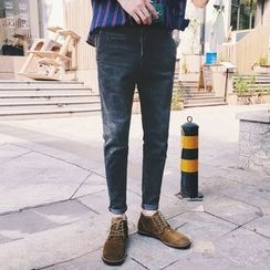 MEING - Washed Slim-Fit Jeans