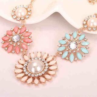 Best Jewellery - Rhinestone Flower Necklace
