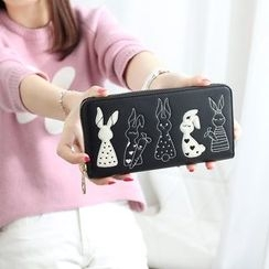 Princess Carousel - Rabbit Embroidered Long Wallet