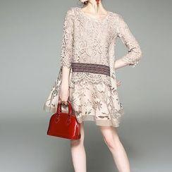 Alaroo - 3/4-Sleeve Lace Dress