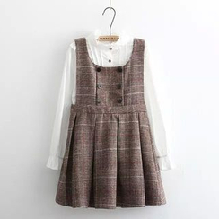 Moricode - Plaid Pinafore Dress