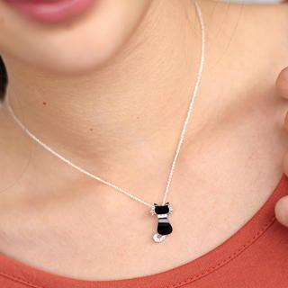 59 Seconds - Rhinestone Cat Necklace
