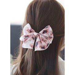 kitsch island - Bow Floral Print Hair Tie
