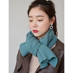 FROMBEGINNING - Wool Blend Ribbed Scarf
