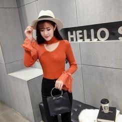 RUI - Lace Trim Knit Pullover