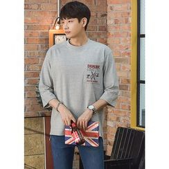 GERIO - Elbow-Sleeve Pocket-Front T-Shirt