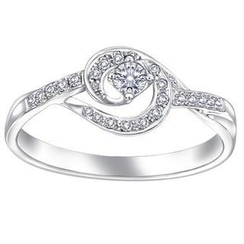 MaBelle - 18K/750 White Gold Diamond Women Ring