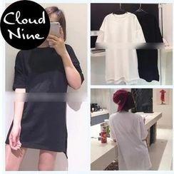Cloud Nine - Short-Sleeve Oversized T-Shirt