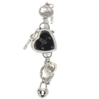 N:U - Heart-Shaped Charm Wrist Watch