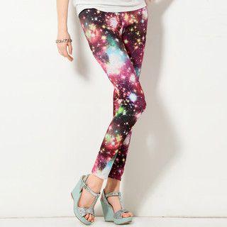 YesStyle Z - Galaxy-Print Leggings