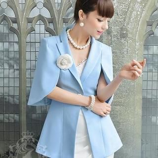 Dabuwawa - Single-Button Cape Blazer