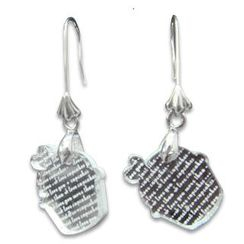 Sweet & Co. - I Love Cupcakes Mirror Silver Charm Earrings