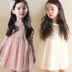 Seashells Kids - Kids Long Sleeved Tulle Dress