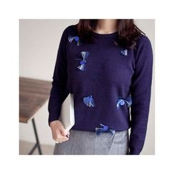 MASoeur - Fringe-Trim Wool Sweater