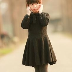 Wind Town - Kids Long-Sleeve Bow-Accent Dress