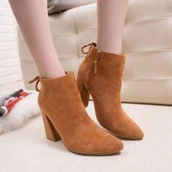 BAYO - Block Heel Ankle Boots