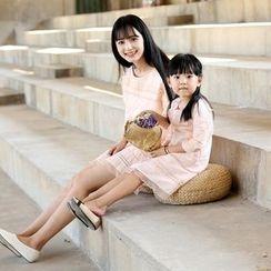 Wind Town - Kids 3/4-Sleeve Paneled Dress