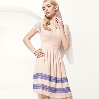 Moonbasa - Lace-Hem Dress