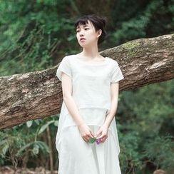 tete - Short-Sleeve Layered Dress