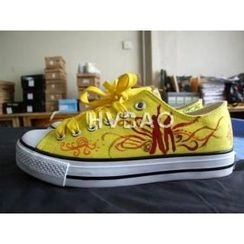 HVBAO - Dance Motif Canvas Sneakers