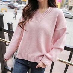 Babi n Pumkin - V-Neck Knit Top