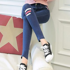Ranee - Striped Skinny Jeans