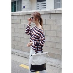 BBORAM - Off-Shoulder Striped Top