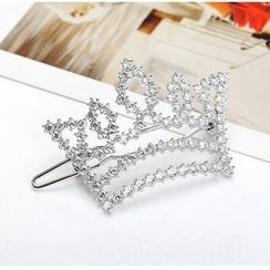 Crystal Midsummer - Crown Rhinestone Brooch