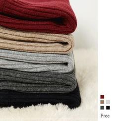 GUMZZI - Rib-Knit Mini Pencil Skirt