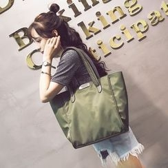 Secret Garden - 链条结饰牛津手提袋