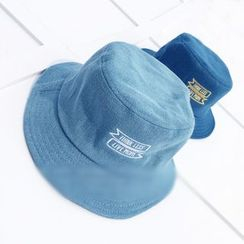 FROME - Lettering Denim Bucket Hat