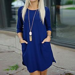 Rebecca - 3/4 Sleeve Shift Dress