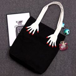 Aoba - Hands Embroidered Shopper Bag
