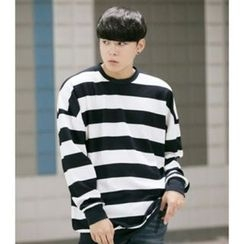 ABOKI - Cotton Blend Stripe Pullover