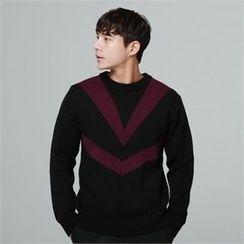 BYMONO - Crew-Neck Contrast-Trim Sweater